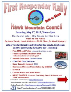 BSA Hawk Mountain Council First Responder Rally @ Blue Marsh Lake - Dry Brooks Day Use Area | Bernville | Pennsylvania | United States